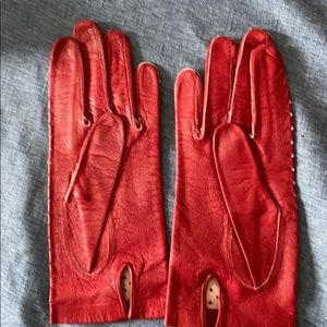 Vintage German leather driving gloves small